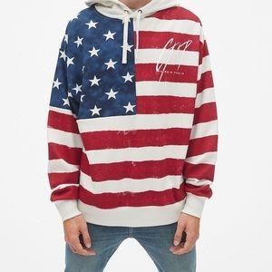 Gap Balmain American flag sweatshirt NWT